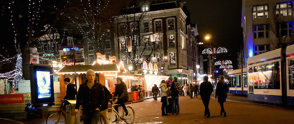 Pic of Leidseplein taken while traveling through Amsterdam