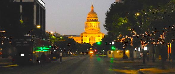 Pic of Congress Avenue taken while traveling through Texas