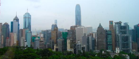 Pic of Skyline taken while traveling through HK