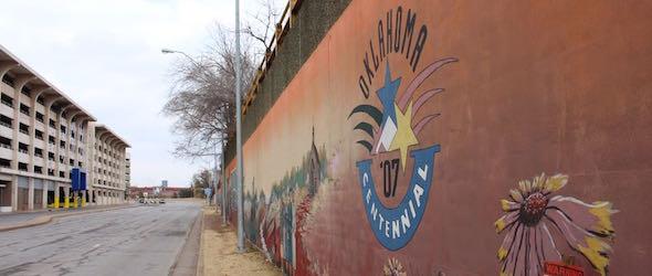 Pic of mural taken while traveling through OKC