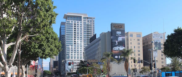 Pic of downtown L.A. taken while traveling through California