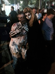 Revelers Dressed Up for Halloween In Miami