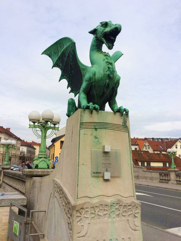 The Dragon Bridge in Ljubljana Slovenia