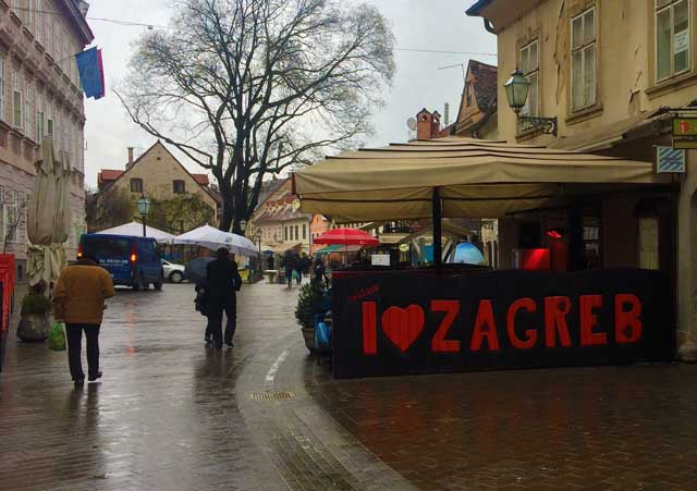 A Restaurant In Zagreb Croatia