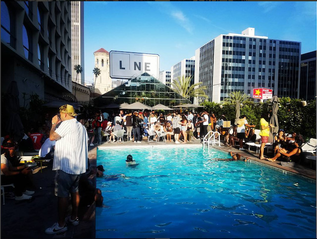 A Pool Party At The Line Hotel In Los Angeles