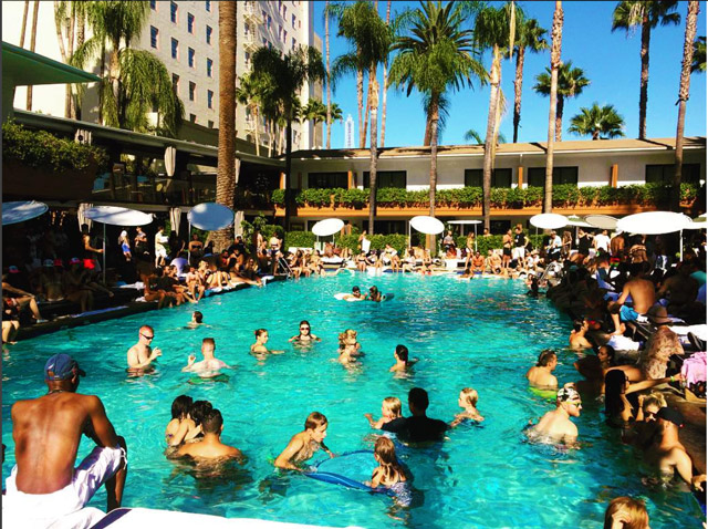 Pool Parties At The Roosevelt Hotel