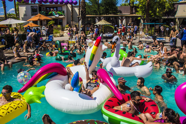 An Attendee At Splash House Music And Pool Festival
