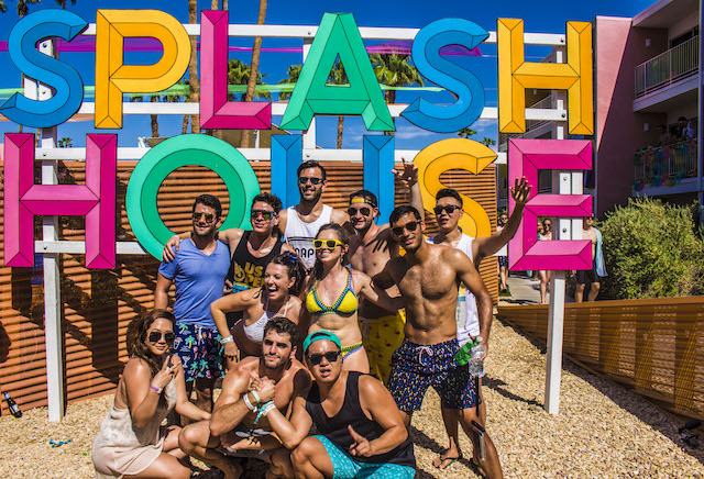 Attendees at the Splash House Music Festival